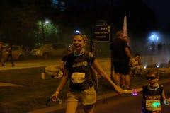 Bucharest Color Run Night stock image