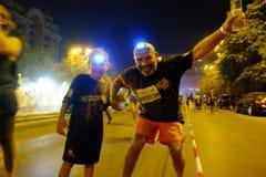 Bucharest Color Run Night royalty free stock photos