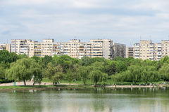 Bucharest Communist Apartment Blocks Skyline View Stock Images
