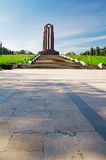 Bucharest - Communist Mausoleum. The Carol Park Mausoleum was built in honour of revolutionary socialist militants by the Communist regime but now is home to the Royalty Free Stock Photo
