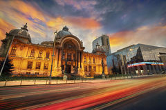 Bucharest Contrast Architecture Royalty Free Stock Photography