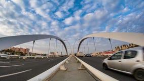 Bucharest czasu upływu materiał filmowy folował hd Basarab most zbiory wideo