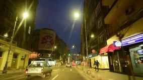 Bucharest czasu upływu materiał filmowy folował hd na ruchu drogowym zbiory