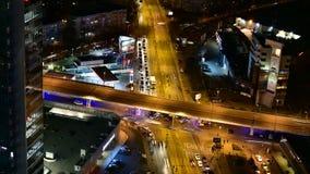 Bucharest czasu upływu materiał filmowy folował hd na ruchu drogowym zdjęcie wideo