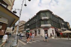 Bucharest - dagliv i den gamla staden royaltyfri foto