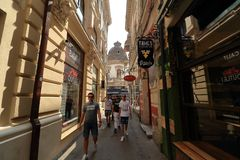 Bucharest - dagliv i den gamla staden arkivbild