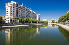 Bucharest - Dambovita flod Royaltyfri Foto