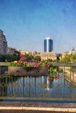 Bucharest on the Dambovita river Stock Images