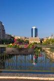 Bucharest on the Dambovita river Royalty Free Stock Images