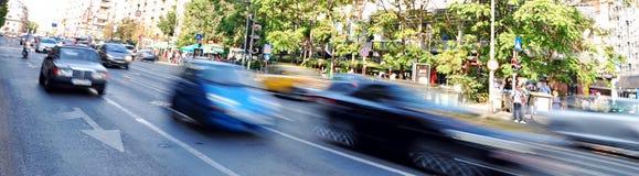 Bucharest day traffic Stock Photo