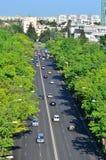 Bucharest day traffic stock photography