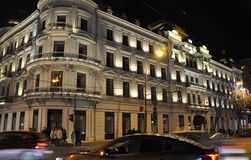 Bucharest,December 1st:Hotel du Boulevard by Night from Bucharest in Romania royalty free stock image