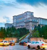 Bucharest at dusk, Romania Stock Photography