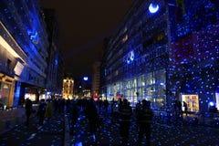 Bucharest festival av ljus 2017 Arkivfoton