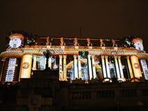 Bucharest, festival of lights 2017 stock footage