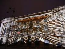 Bucharest, festival of lights 2017 stock video footage