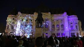 Bucharest, festival of lights 2018 stock video
