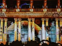 Bucharest, festival of lights stock footage