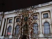 Bucharest, festival of lights stock video