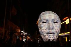 Bucharest, festiwal świateł 2018 Zdjęcie Royalty Free