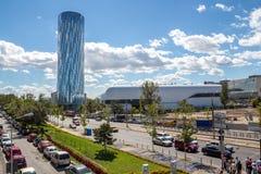 Bucharest - Floreasca område Arkivfoton