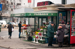 Bucharest flower shop Royalty Free Stock Images