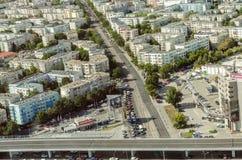 Bucharest flyg- sikt fotografering för bildbyråer