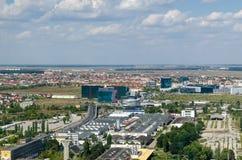 Bucharest flyg- sikt arkivbild