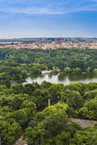 Bucharest flyg- sikt Royaltyfri Bild