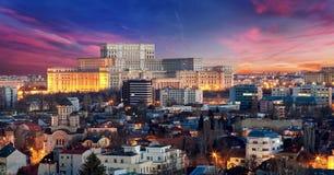 Bucharest flyg- sikt Arkivfoton