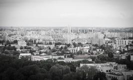 Bucharest från över Royaltyfria Bilder