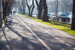 Bucharest gångbana Fotografering för Bildbyråer