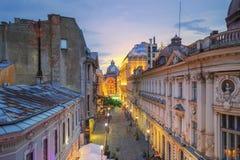 Bucharest gammal stad - Rumänien royaltyfri bild