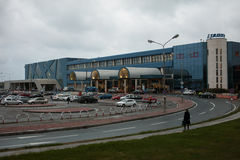 Bucharest Henri Coanda International Airport royaltyfri foto