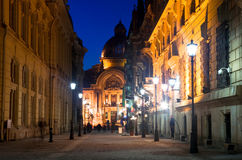 Bucharest - Historic center by night stock photo