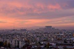 Bucharest horisont royaltyfri foto