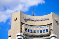 Bucharest Intercontinental hotel Royalty Free Stock Photo