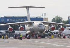 Bucharest International Air Show (BIAS) 2015 panorama Royalty Free Stock Photos