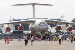 Bucharest International Air Show (BIAS) 2015 panorama Stock Photography