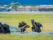 bucharest international air show 2016 ,civil and military air show from Bucharest, Romania Royalty Free Stock Photo