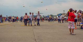 bucharest international air show 2016 ,civil and military air show from Bucharest, Romania Royalty Free Stock Images
