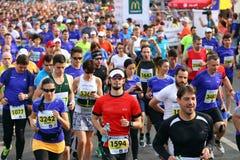 Bucharest International Half Marathon 2015. Runners compete at the Bucharest Half Marathon, in Romania, May 17, 2015 stock images