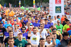 Bucharest International Half Marathon 2015 Stock Images