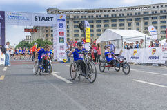 Wheelchair racers  Stock Photography