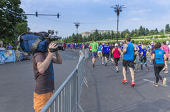 Bucharest International Half Marathon Stock Photo