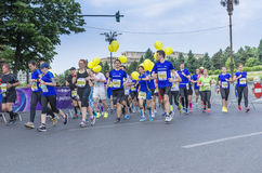 Runners during marathon Royalty Free Stock Images