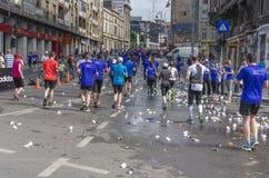 Runners during marathon Stock Image