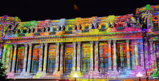 Bucharest international light festival Stock Image