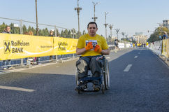 Wheelchair racer Stock Image