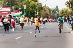Bucharest Internationalmaraton 2015 arkivfoton